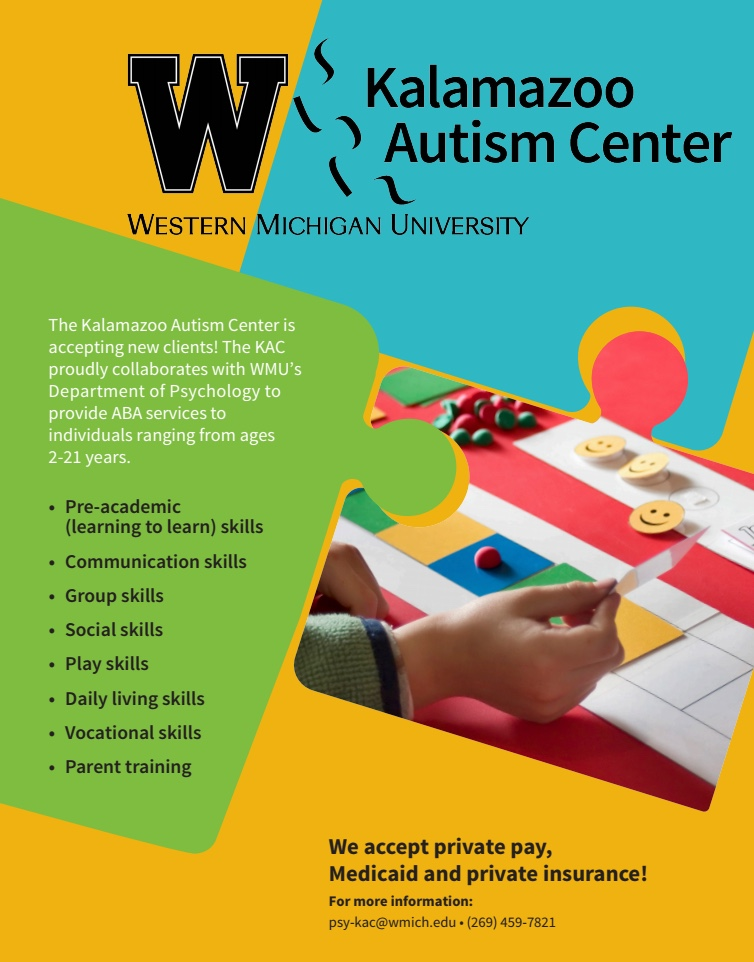 Kalamazoo Autism Center flyer